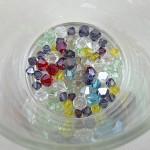 Perles toupies de cristal