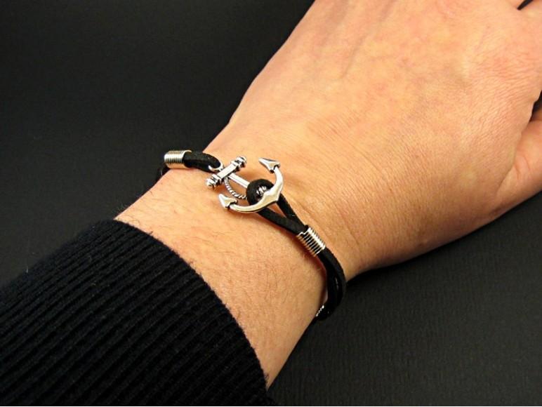 bracelet fantaisie ancre marine. Black Bedroom Furniture Sets. Home Design Ideas