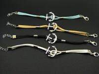 Bracelet ancre marine suédine couleur variée