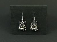 Boucles d'oreilles fantaisie fée clochette argentée