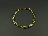 Bracelet fantaisie maille twist couleur bronze