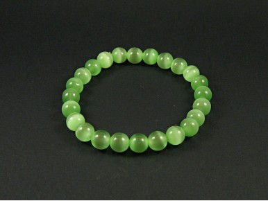 Bracelet fantaisie perles vertes