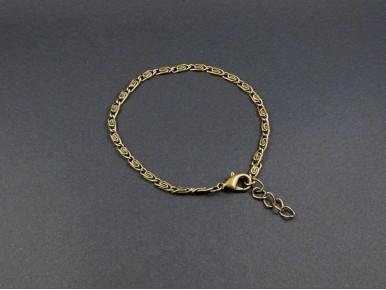 Bracelet fantaisie bronze maille S