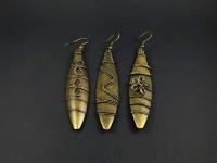 Boucle d'oreilles boucliers couleur bronze décor choix