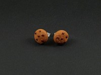 Boucles d'oreilles puce cookies chocolat