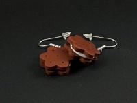 Boucles d'oreilles bicuits chocolat fourrés vanille