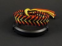 Bracelet brésilien motif tigre chevron noir et dégradé d'orange