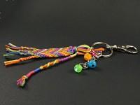 Porte-clé bijou de sac tissage brésilien et perles
