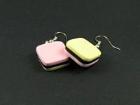 Boucles d'oreilles bonbons anglais bicolores