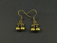 Boucles d'oreilles cerises couleur bronze