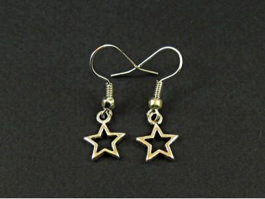 Boucles d'oreilles étoiles ajourées argentées