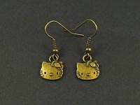 Boucles d'oreilles Hello-Kitty couleur bronze
