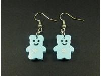 Boucles d'oreilles oursons bleus
