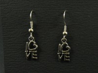 Boucles d'oreilles 'love'