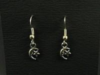 Boucles d'oreilles fantaisie lune et étoile