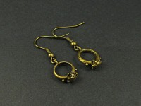 Boucles d'oreilles fantaisie bagues bronze