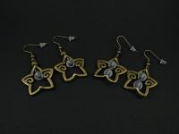 Boucles d'oreilles étoiles et perles