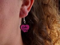 Boucles d'oreilles souples Violetta et Hello Kitty