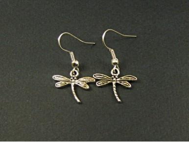 Boucles d'oreilles libellules argentées