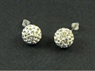 Boucles d'oreilles puces perle shamballa