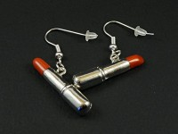 Boucles d'oreilles fantaisie bâton de rouge à lèvres
