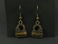 Boucles d'oreilles sac à main vintage