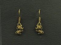 Boucles d'oreilles petites souris couleur bronze