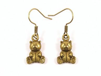 Boucles d'oreilles oursons couleur bronze