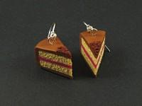Boucles d'oreilles parts de gâteau
