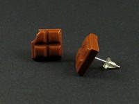 Boucles puces représentant des carreaux de chocolat