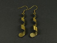 Boucles d'oreilles serpentins bronze