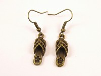 Boucles d'oreilles tongs bronze