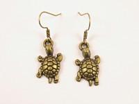 Boucles d'oreilles tortue bronze
