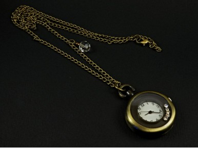 Collier montre strass mobiles