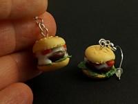 Boucles d'oreille hamburgers
