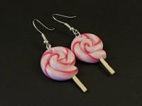 Boucles d'oreilles sucettes roses