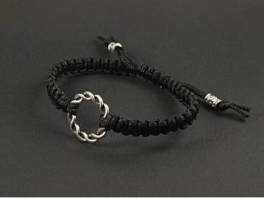 Bracelet fantaisie tissage et anneau torsadé