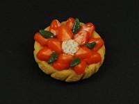 Magnet artisanal tarte aux fraises