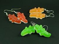 Boucles d'oreilles bonbons crocodiles