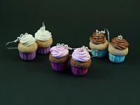 Boucles d'oreilles cupcakes gourmands