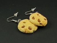 Boucles d'oreilles cookies dorés