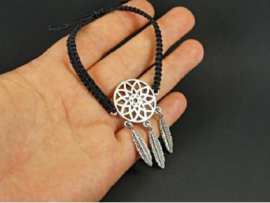 Bracelet tissage artisanal attrape-rêves