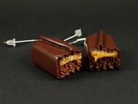 Boucles d'oreilles barre chocolatée Mars