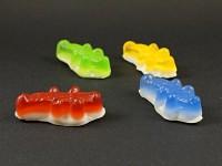 Magnet mini bonbon crocodile en résine colorée