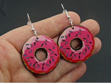 Boucles d'oreilles XL ultra légères donut résine