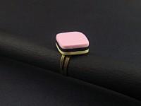 Bague fantaisie imitation bonbon anglais tricolore
