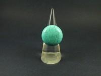 Bague fantaisie cabochon en véritable turquoise