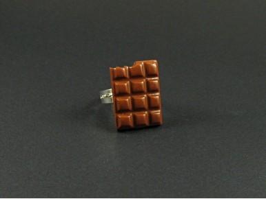 Bague tablette de chocolat
