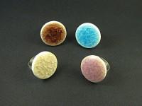 Bagues fantaisie céramique colorée verre craquelé