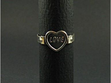 Bague aluminium 'love'